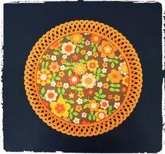 Plateau Vintage Witzmann Orange Années 70