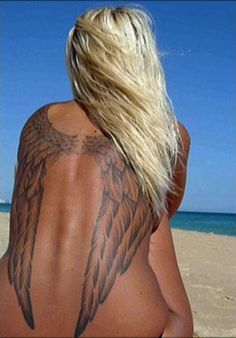 Big angel wings tattoo for women. Find and save ideas about Big angel wings tattoo for women on Tattoos Book. More than FREE TATTOOS Pretty Tattoos, Sexy Tattoos, Beautiful Tattoos, Body Art Tattoos, Girl Tattoos, Tattoos For Women, Tatoos, Crazy Tattoos, Incredible Tattoos