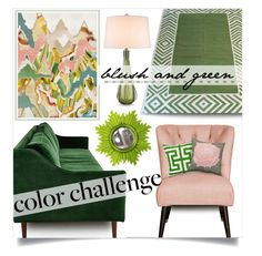 """blush & green decor"" by collagette ❤ liked on Polyvore featuring interior, interiors, interior design, home, home decor, interior decorating, Madeline Weinrib, ModShop, Zephyr and Nate Berkus"