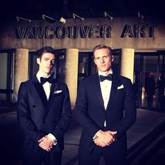Grant Gustin and Teddy Sears