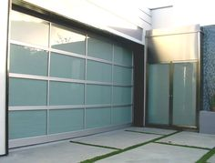 Accurate Garage Door Repair offer the replacement of garage doors with new one in very reasonable rates. We serves the service in service van equipped with tools for repair and replacement garage doors. Glass Garage Door, Garage Door Design, Glass Door, Contemporary Garage Doors, Modern Garage Doors, Garage Door Makeover, Garage Door Repair, Car Garage, Garage Door Springs