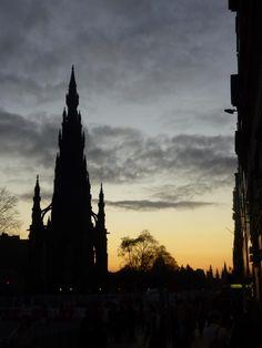 Edinburgh winter night sky