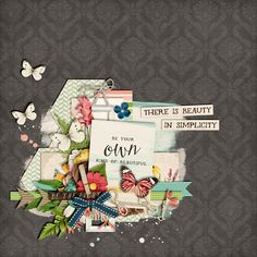 Beauty in Simplicity A Natural Beauty by Kristin Cronin-Barrow A Natural Beauty Cards by Kristin Cronin-Barrow digital scrapbooking layout, Misty Hilltops Designs