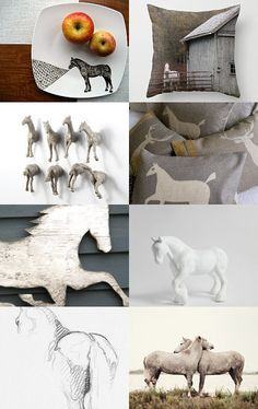 Equestrian details with neutral colors.