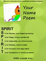 Spirit Name Poem