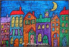 Wax Crayon Batik, Paper Batik by idiloewenherz