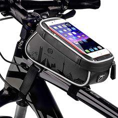 Waterproof Bike Front Frame Touch Screen Bag Phone Pannier For Phones Below Cycling Bag, Road Cycling, Goods And Service Tax, Goods And Services, Bicycle Bag, Bike, Mtb, Smartphone, Motorcycle Outfit