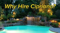 """Cipriano Company Video Testimonial: Unique pool & landscaping design ideas of the 2013 """"Top 50 Pool Builder"""" and """"Best Pool Design"""" Winner - Client's of Cipriano Landscape Design share their experience on how the company transformed an outdated backyard into a luxury outdoor living space!  New for 2014 in Pools & Landscaping: """"Dive in Pool Theaters"""" and """"White Water Pool Kayaking."""" Expert landscaping & pool company showcases new pool & landscaping features, glass tile swimming pools, fiber…"""