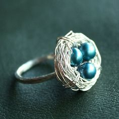 Robin's Nest Wire-Wrapped Sterling Silver Ring
