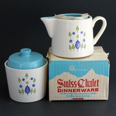Vintage MarCrest Swiss Alpine Sugar and Creamer  by SundayzChild, $15.45