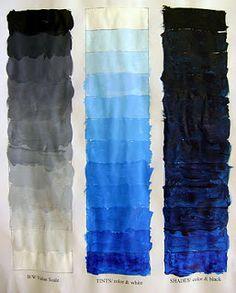 Art Education Blog: Monochromatic Painting Teaching Colors, Teaching Art, Painting Lessons, Art Lessons, Color Wheel Lesson, Monochromatic Paintings, Adult Art Classes, High School Art Projects, Jr Art