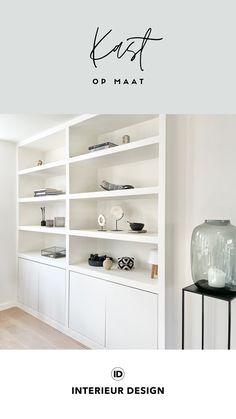 Op zoek naar een ontwerp voor een mooie kast op maat? Wij helpen je graag! Met onze interieurmakers kunnen we het ontwerp ook voor je laten maken. Interesse? Neem snel contact op! • maatwerk, maatwerk kast, kast op maat, kast woonkamer, vakkenkast, kastenwand woonkamer, kast ontwerpen, inbouwkast, inbouwkast woonkamer, inbouwkast slaapkamer, kast onder schuine wand, maatwerk kast woonkamer, maatwerk kastenwand, opbergen, opbergen speelgoed woonkamer, opbergen woonkamer, kastruimte, kasten Shelving, Design, Home Decor, Shelves, Decoration Home, Room Decor, Shelving Units, Home Interior Design
