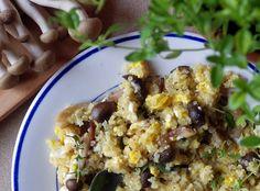 Quinoa Raz!: Quinoa z jajkiem i brązowymi grzybkami shimeji