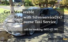 Make your rides #Memorable, #Reliable by booking #cabs with #Melbourne #Taxi #Service by #Siverservice24x7. Booking is available by call at 0452 622 391 and online by Book@silverservice24x7.com For more visit at www.silverservice24x7.com