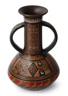 Cuzco vase, 'Splendor of the Inca' by NOVICA