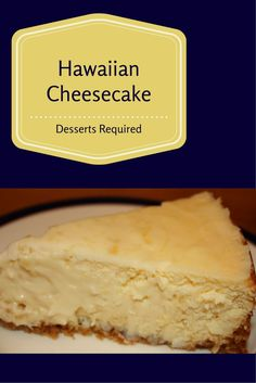 Aloha! Desserts Required's Hawaiian Cheesecake is one you are going to love. It's filled with macadamia nuts, cream cheese, coconut and crushed pineapple. Cheesecake Desserts, Just Desserts, Dessert Recipes, Pineapple Cheesecake, Yummy Recipes, Hawaiian Desserts, Hawaiian Recipes, Hawaiian Parties, Hawaiian Dishes
