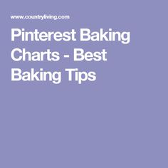 Pinterest Baking Charts - Best Baking Tips