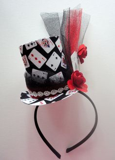 Black Jack Poker Party Hat Ready To Ship by alphabulous on Etsy, $24.00