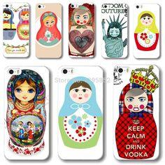 Various Cute Matryoshka Dull Rigid Plastic Phone Skin Cover for iPhone 5 5S