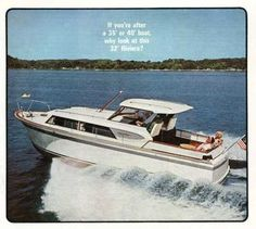 "List of ""Known Survivors"" - Chris Craft Roamer Yacht Chris Craft, Motor Yacht, Power Boats, Chevrolet Corvette, Decorating, Classic, Crafts, Vintage, Decor"