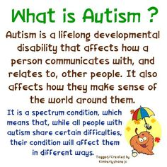 What is autism? #whatisiautism #touchautism http://touchautism.com/