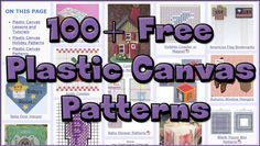 More and Better Free Plastic Canvas Patterns – AllCrafts Free Crafts Update