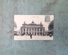Antique French Postcard of the Paris Opera by DuncanGrantAntiques