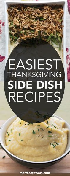 Streamline your Thanksgiving meal-planning with any of these easy side dishes, including sauteed and roasted seasonal vegetables and favorite potato and sweet potato dishes. We've got you covered with a wide range of recipes for classic- and modern-style holiday sides.