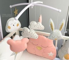 Items for Mobile Baby Animals Nursery Room, Etsy, Pendants, Bebe, Baby Pets, Nursery, Child Room