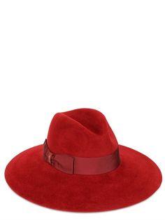 9a77c516632beb BORSALINO - VELOUR LAPIN FELT HAT Wide Brimmed Hats, Felt Hat, Style,  Fashion