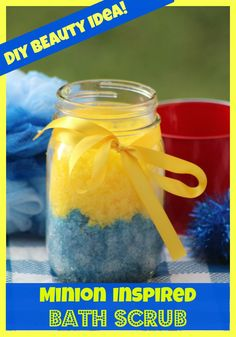 Perk up your summer beauty routine with this adorable DIY Minion Scrub inspired by the movie. This hydrating scrub is cheap to make and makes a great gift!