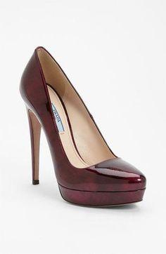 Prada Platform Pump available at Nordstrom--- love Prada shoes! Stilettos, High Heels, Stiletto Heels, Cute Shoes, Me Too Shoes, Black Lace Pumps, Shoe Boots, Shoes Heels, Nordstrom