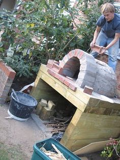 backyard pizza oven.  I need Casey to hurry up and get this started.  lol
