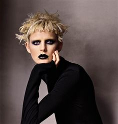 """Stella Tennant - """"Stella Tennant always manages to make even the most poised piece feel punk. Now if only I could pull off a jet-black lip . . ."""" —Steff Yotka, Vogue.com Fashion News Writer"""