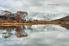 An Teallach in late Winter. Reflected in Loch Droma. Wester Ross. Scotland.