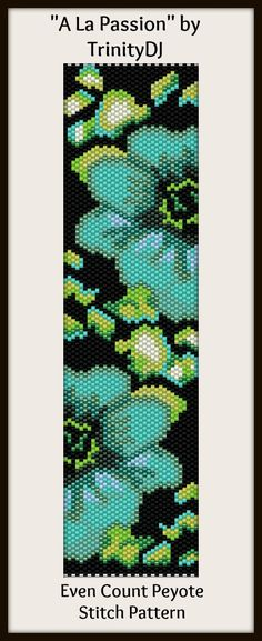 """A La Passion"" - New bracelet pattern for next week. I love the colors in this design."