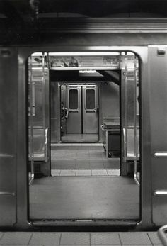 black/white subway car view through two subway car doors Urban Photography, Street Photography, Exposure Photography, Documentary Photography, Famous Photography, Framing Photography, Photography Magazine, Fred Instagram, Foto Picture