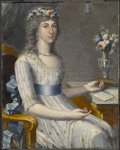 José Campeche (Puerto Rican, 1751-1809). Doña María de los Dolores Gutiérrez del Mazo y Pérez, ca. 1796. Oil on canvas, 32 11/16 x 26 in. (83 x 66 cm). Brooklyn Museum, Gift of Lilla Brown in memory of her husband, John W. Brown, by exchange, 2012.45