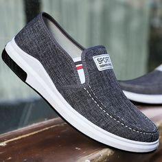 5ca86d02980e Sneakers respirants en toile pour hommes occasionnels au volant Mocassins  de conduite Slip on Shoes US