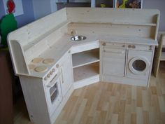 Diy Play Kitchen, Toy Kitchen, Calico Critters Families, Modern Playhouse, Outside Playhouse, Ikea, Nursery Inspiration, House 2, Cubbies