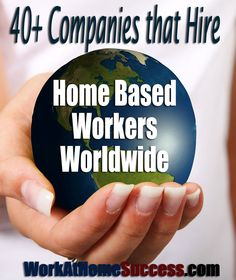 Get a work at home job outside the U.S. Here's 40+ Companies that Hire Home-Based Workers Worldwide http://www.workathomesuccess.com/40-companies-that-hire-home-based-workers-worldwide/?utm_campaign=coschedule&utm_source=pinterest&utm_medium=Leslie%20Truex&utm_content=40%2B%20Companies%20that%20Hire%20Home-Based%20Workers%20Worldwide