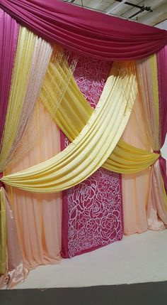 """when you want your event to scream """"I'm a Barbie girl"""" Wedding Hall Decorations, Backdrop Decorations, Backdrops, Pipe And Drape, Floors And More, Rental Decorating, Boy Baby Shower Themes, Flower Backdrop, Deco Table"""