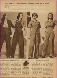 NewVintageLady: Catalog Sunday - 1935 denim.