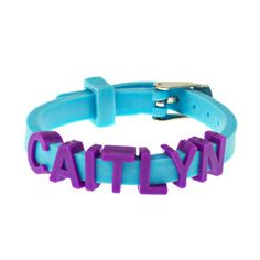 Letter Bracelet Blue: Kid Creations ups the fun quotient with thematic charm bracelets. These snap-on charms are perfect for mercurial children and their always-varying interests, (from sports to princesses, Goth skulls to picnic treats). Adjustable rubber bracelets with charm sets make declaring one's allegiance easy and cool.