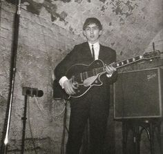 Young George all dressed up at The Cavern.