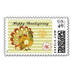 Thanksgiving Turkey Stamp