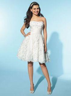 Simple lovely light blue organza pleated wedding dress-destination ...