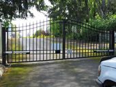 Fence Specialists - Tacoma Ornamental Metal Fence Installation Wrought Iron Fences, Metal Fence, Fence Planters, Building A Fence, Diy Fence, Fence Design, Deck, Ornaments, Outdoor Decor