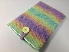"""11インチのノートパソコン用スリーブケース Knit for 11"""" Notebook in Green-Purple-Orange Mix"""