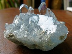 This cluster of celestite (also known as celestine) came to me from Sakoany, Madagascar, where the world's finest celestite is found. Celestite is a